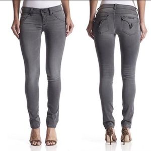 HUDSON COLLIN FLAP POCKET SKINNY CROP Grey Jeans